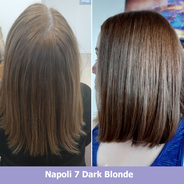 Napoli Dark Blonde before after