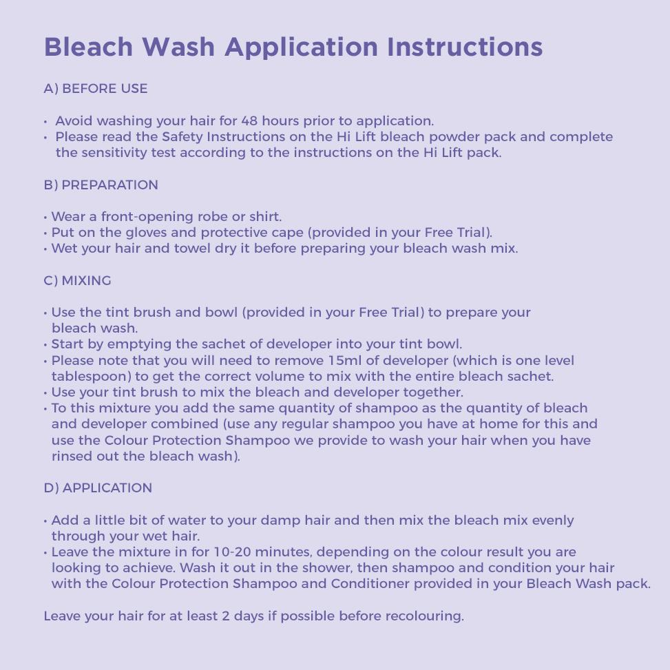 Bleach Washing Your Hair The Shade